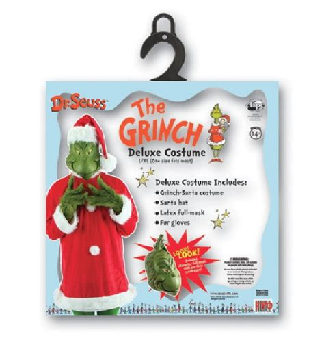 christmas grinch survival kit dr seuss how the grinch stole deluxe costume kit size large xl starbase atlanta