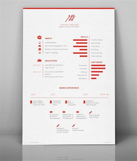 simple creative resume design 50 inspiring resume designs and what you can learn from them design och inspiration