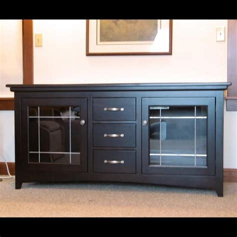 Handmade Tv Cabinets - handmade made espresso cherry wide screen tv stand by