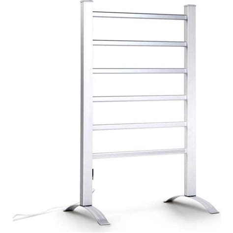 free standing electric towel rails for bathrooms electric 6 rung free standing heated towel rail buy