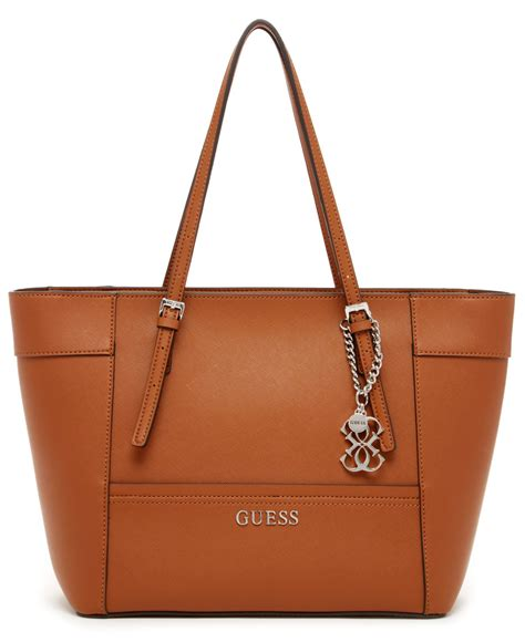 Guess S guess delaney small classic tote in brown cognac lyst