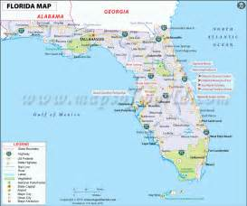 florida map with cities and towns florida map free large images