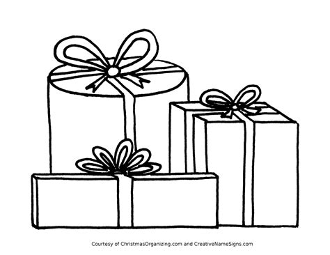 coloring pages of christmas presents gift coloring page coloring home