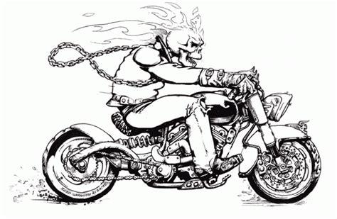 imagenes de calaveras con fuego para dibujar dibujo del motorista fantasma para colorear