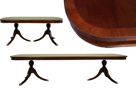 pedestal table with leaf formal double pedestal mahogany dining table with 2 leaves