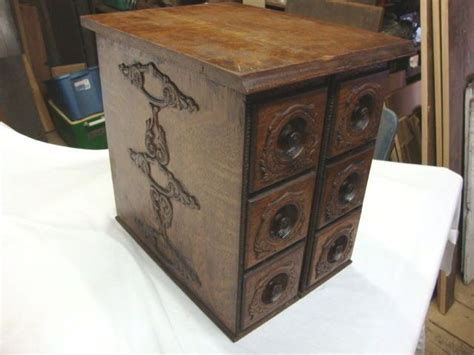 Sewing Machine Drawers by Fancy Antique Six Oak Singer Treadle Sewing Machine