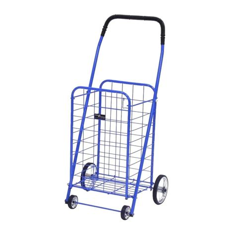 easy wheels mini shopping cart in blue 003bl the home depot