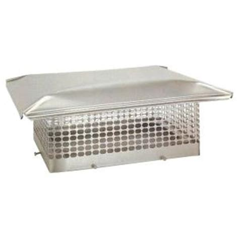 home depot chimney cap the forever cap 14 in x 14 in adjustable stainless steel