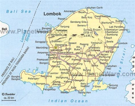 lombok map tourist attractions health   lombok