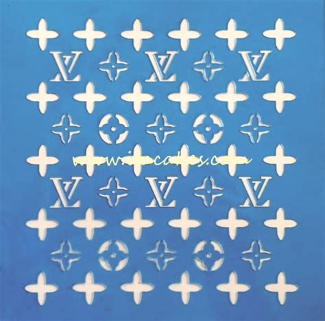 lv pattern for cake louis vuitton stencil 2 itacakes