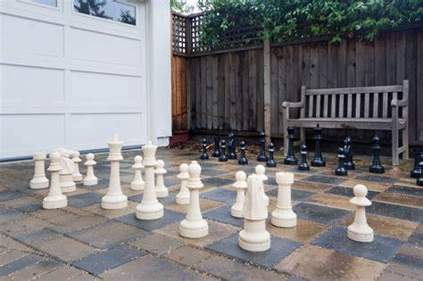 Ceramic Chess Set by Lovely Chess Game Table Decorating Ideas Images In Patio
