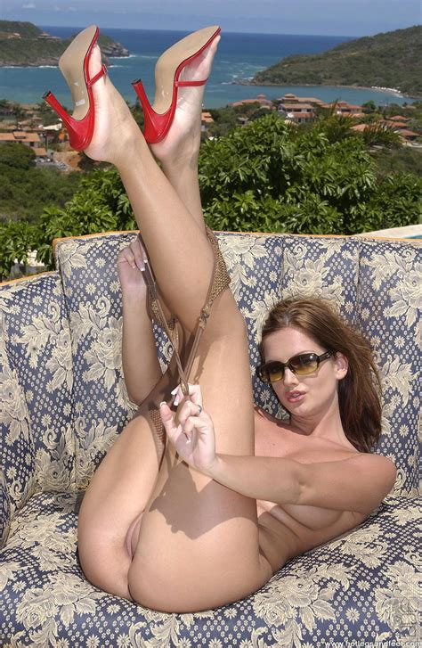 sandra shine showing off her amazing legs and feet outdoor my pornstar book
