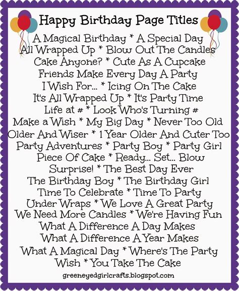 birthday page titles aidan pinterest scrapbooking