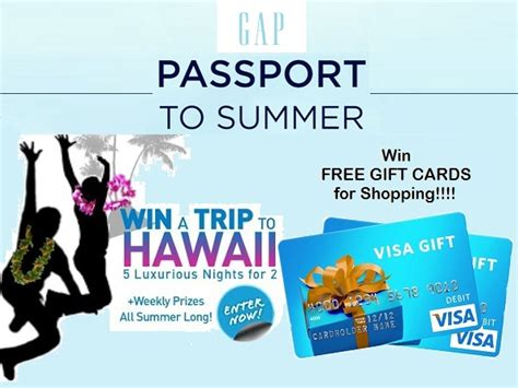 Gap Sweepstakes - gap passport to summer sweepstakes sweepstakesbible