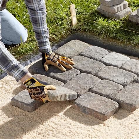 laying a patio how to lay a paver patio or walkway