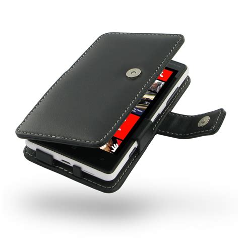 Nokia Lumia 820 Premium Leather Flip Cover Dompet Sarung Casing Nokia Lumia 820 Leather Flip Cover Pdair Wallet Sleeve