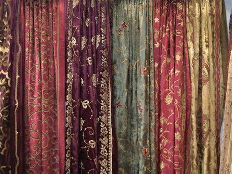 Antique Velvet Curtains Antique Silk Velvet Curtains Velvets Pinterest Embroidery Silk And Bazaars