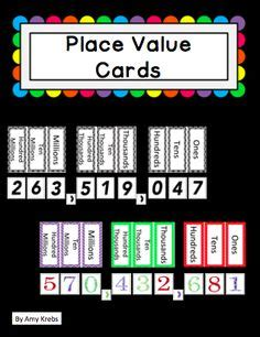 place value cards template free multiplication printable table asilo e scuola per