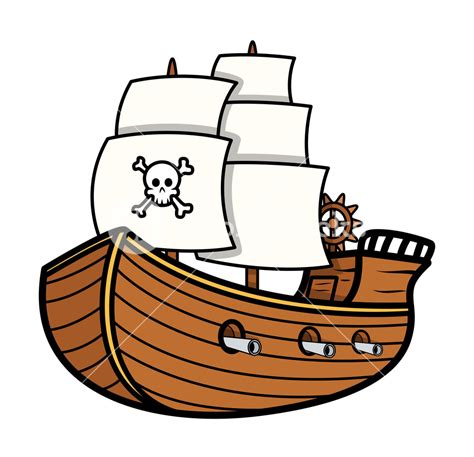 pirate boat clipart pirate ship vector royalty free stock image storyblocks