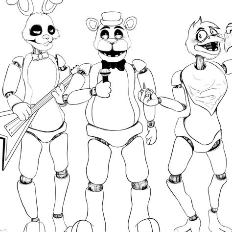 Fnaf 4 Coloring Pages by Fnaf Coloring Pages 28 Coloring Pages For