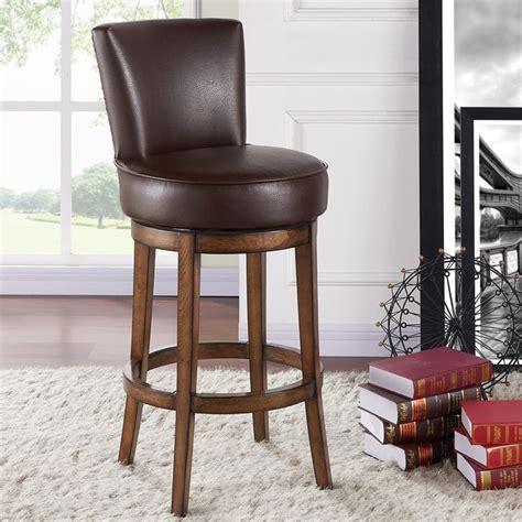 bar stools boston armen living boston 30 quot swivel bar stool in chestnut