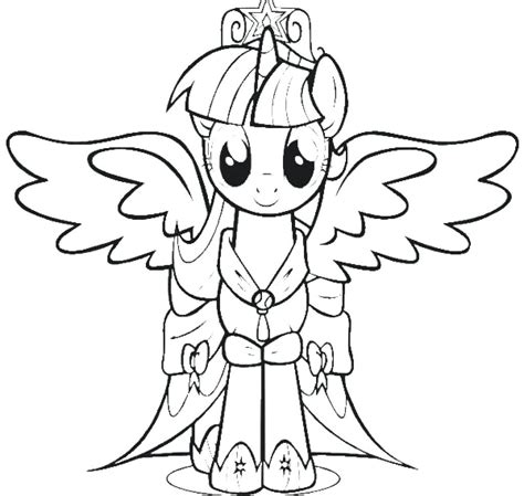 My Pony Coloring Pages Princess Twilight Sparkle Alicorn