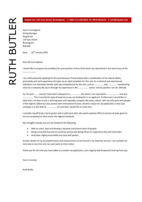 cover letter exles for chefs chef resume sle exles sous chef free