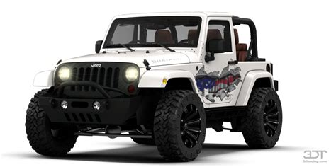 Unique Paint 3dtuning of jeep wrangler rubicon convertible 2013