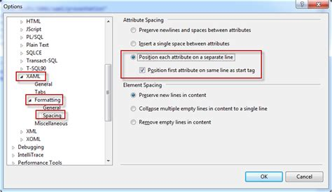 format html visual studio break line on each tag attribute and keep them aligned in