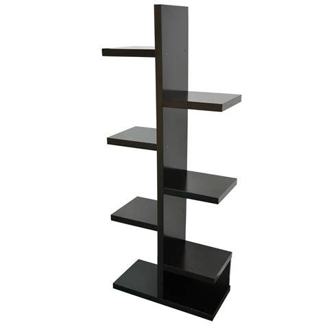 Free Standing Book Shelf by Modern Free Standing Staggered Shelf Storage Display