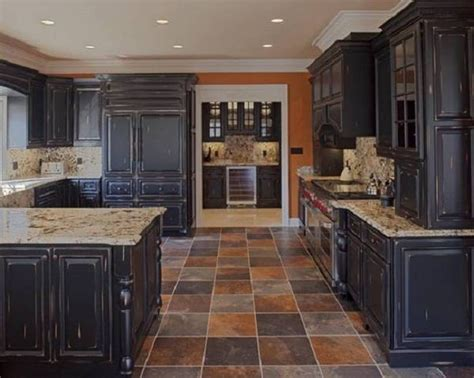 black kitchen decorating ideas black distressed wood kitchen cabinets kitchen design ideas