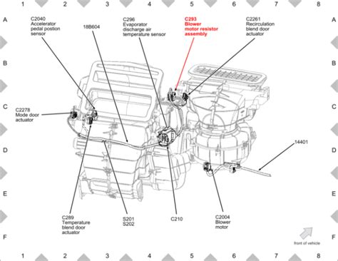 2013 ford blower motor resistor location wiring