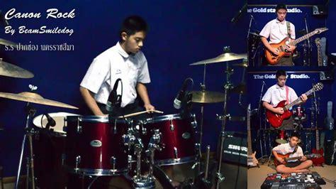 drum canon rock tutorial canon rock drum by beam smiledog youtube