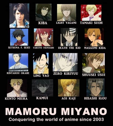 Anime Voice Actors by Mamoru Miyano Anime Photo 24299192 Fanpop