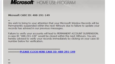 microsoft customers targeted with lottery and home use