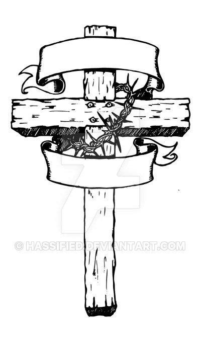 Rugged Cross Drawing