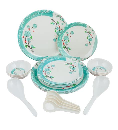 dinner set melamine dinner set gibson studio 12 piece mauna melamine
