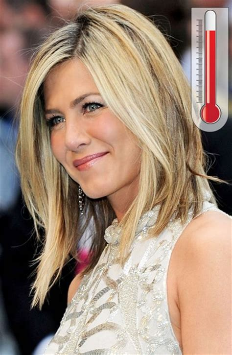 jennifer aniston steps out with new blond bangs while jennifer aniston symmetrical long bob love yourself