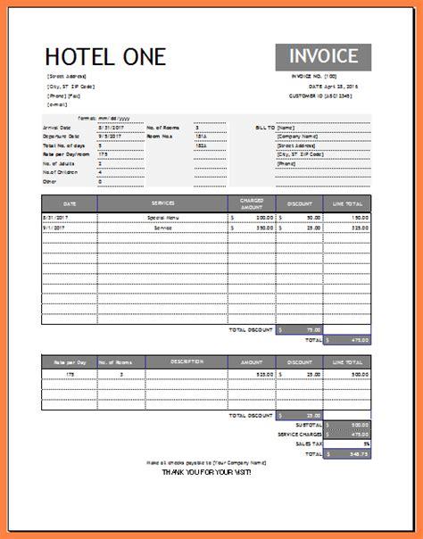 docs hotel receipt template hotel invoice template doc invoice sle template