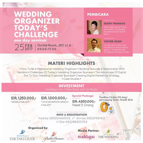 Part Time Wedding Organizer Jakarta by Wedding Organizer Today S Challenge One Day Seminar