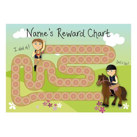 printable a3 reward charts a3 customisable horse race reward chart with customisable