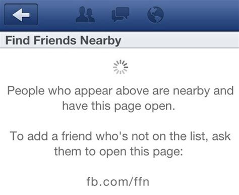 facebook quot find friends nearby quot feature quietly launches
