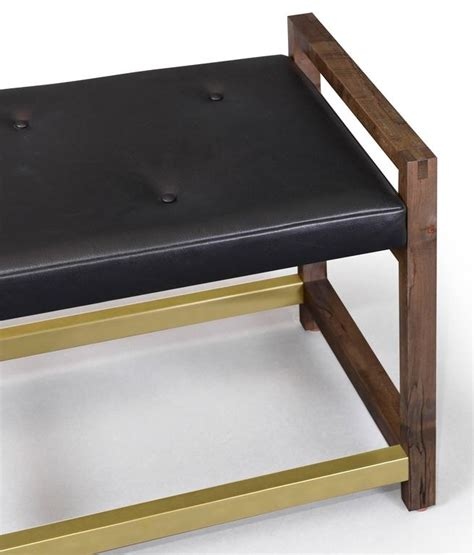 Gotham Furniture gotham bench customizable wood metal and material for