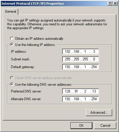 configure xp static ip ip configuration