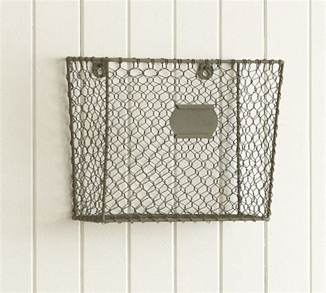wire mesh wall mount magazine rack eclectic storage