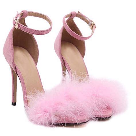 Sepatu Fluffy pink fluffy heels sugarsweet me
