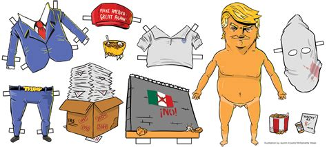 donald paper dolls dress up the donald for monday s debate with our paper