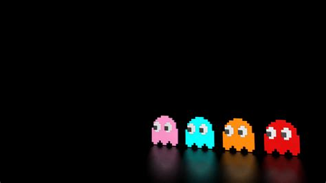 theme hotel game full screen black background ghosts pac man retro games video walldevil