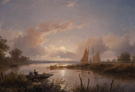 classic landscape wallpaper boat painting clouds landscape classic art wallpapers