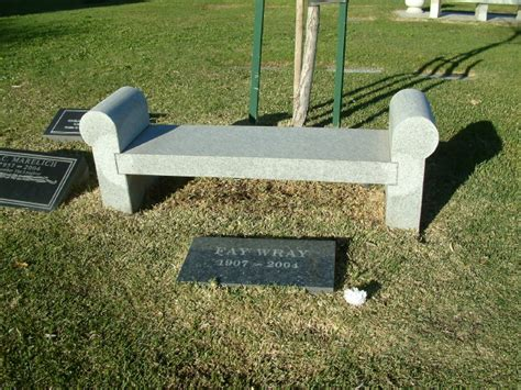 benches for grave sites fay wray gravesite